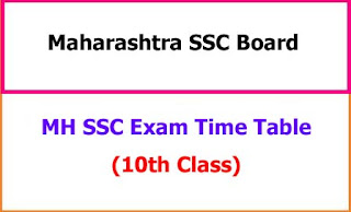 MH SSC Time Table 2021