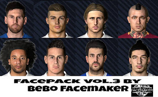 PES 2017 Facepack Vol.3 by Bebo Facemaker