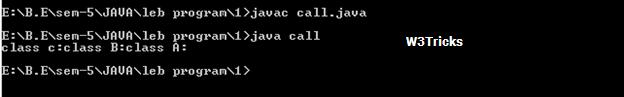 super class method java core