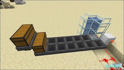 マインクラフト 自動仕分け倉庫のアイテム投入口 基本部分
