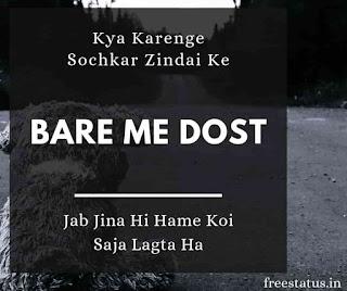 Kya-Karenge-Sochkar-Zindai-Ke-Bare-Me-Dost - Sad-Shayari