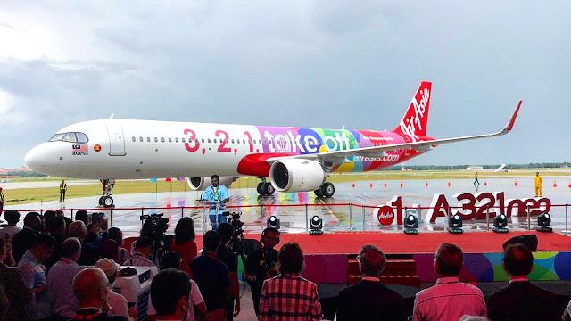 Launching 1st A321 Neo Armada Baru AirAsia Airbus A321neo Tiba di KLIA,