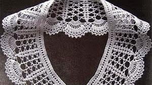 Diagrama crochet de cuello delicado