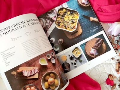 Krkonošská kuchařka (Danka Šárková) – dřevorubecké brambory s houbami a slaninou Zdroj: archiv recenzentky