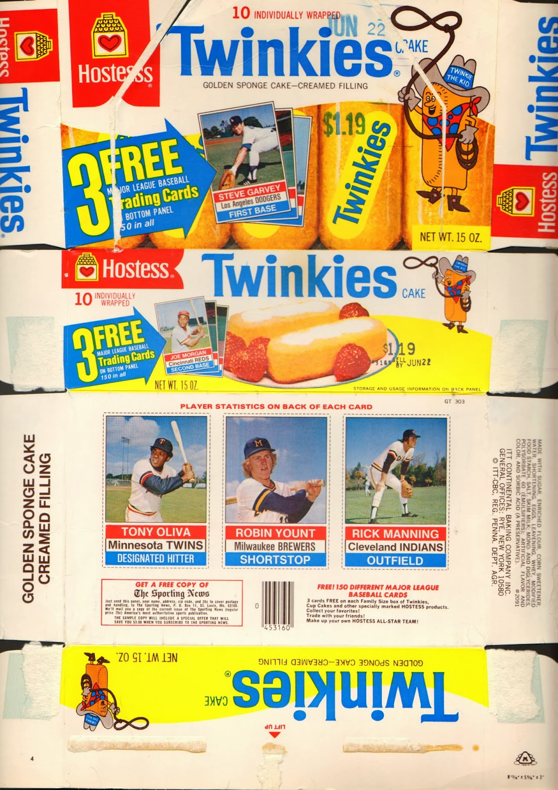 The Yount Collector 1976 Hostess Twinkies Full Box
