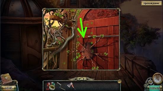 открываем двери при помощи древесного ключа в игре тьма и пламя 4