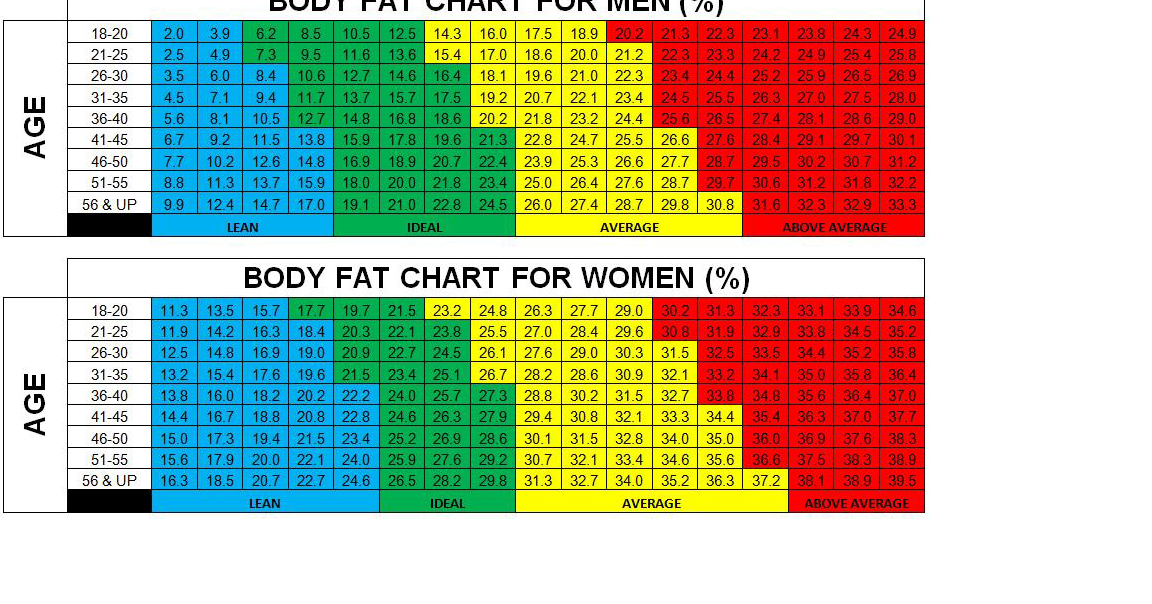 body fat percentage pinch