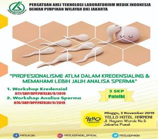 Workshop Kredensial dan Analisa Sperma PATELKI DPW DKI JAKARTA