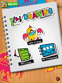 iLuv Drawing Monsters iPad App, options