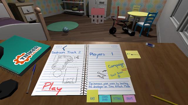 Análise: Tinker Racers (Switch) é uma pequena diversão pelos cômodos da casa