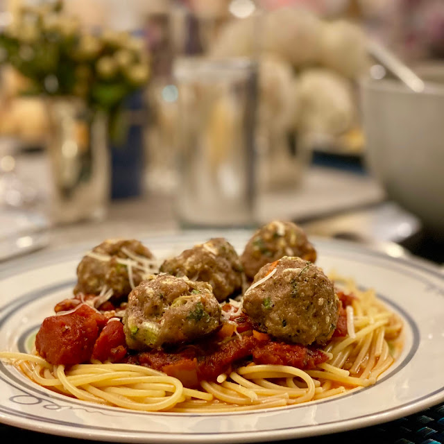 Cooking Light Turkey Veggie Meatball Pasta Served Up on Livliga