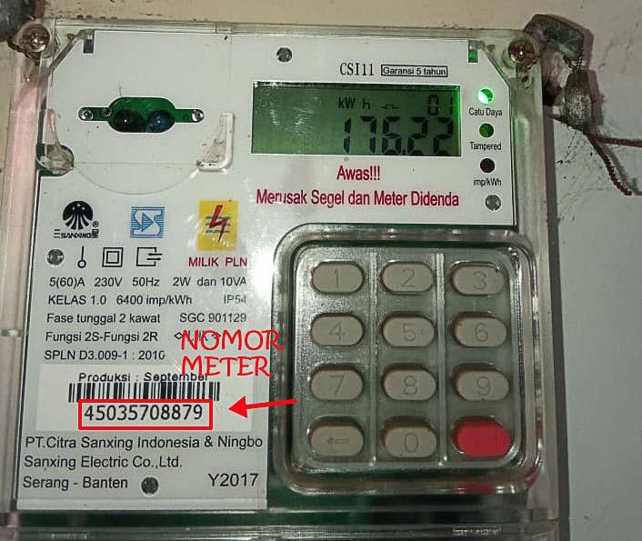 Nomor meter