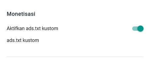 hidupkan ads.txt custom