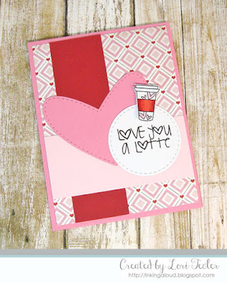 Love You a Latte card-designed by Lori Tecler/Inking Aloud-digital stamps from Verve Stamps