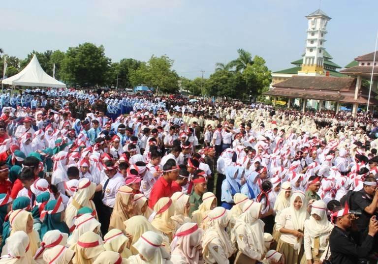 warga Ngawi ikuti apel nusantara bersatu