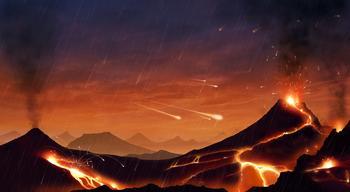تمثيل للأرض قبل 4 ملايير سنة