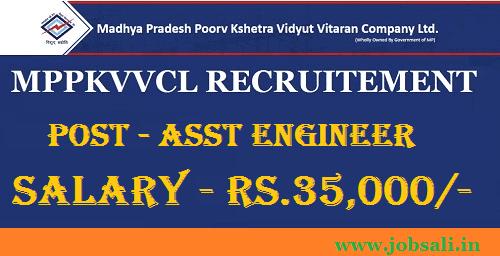 Govt jobs in MP, MP Engineers Recruitment, MPPKVVCL Jabalpur Recruitment