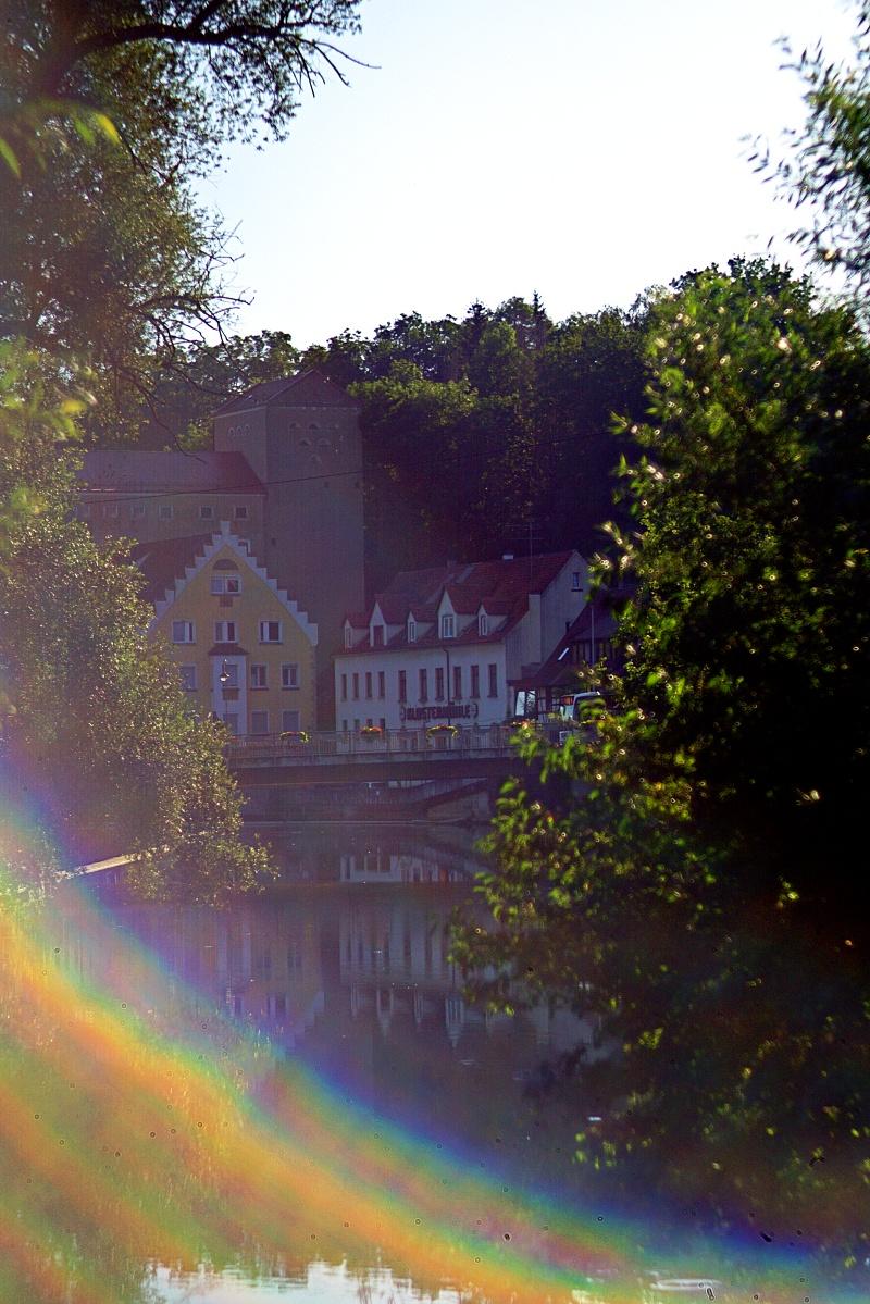 Mittelstädter Mühle im Regenbogen