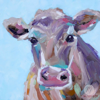 opal-cow-oil-painting-merrill-weber