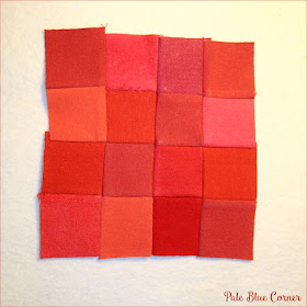 Mini Memory Quilt in Red