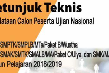 Download Juknis Pendataan dan Jadwal Ujian Nasional 2019 Terbaru