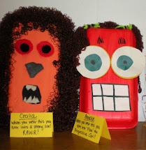 ' Art Room 6th Grade Recycled Folktale Masks