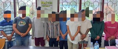 Astaga, Sembilan Orang Pria Diamankan Lagi Pesta Ganja di Areal SD Negeri di Simalungun