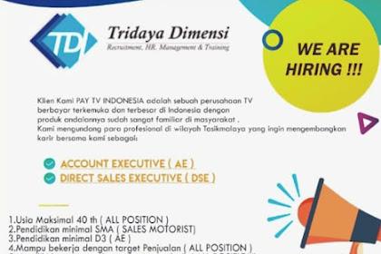 Lowongan Kerja PT. TIRDAYA DIMENSI INDONESIA Penempatan Tasikmalaya