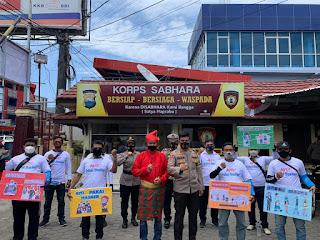 Gandeng Komunitas NMX, Polres Pelabuhan Makassar Kampanye Ayo Pakai Masker