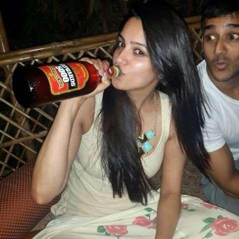 Anita Hassanandani is Drinking