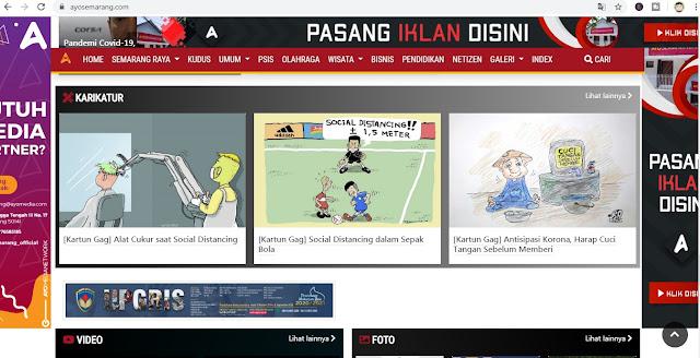 Tampilan website Ayosemarang.com