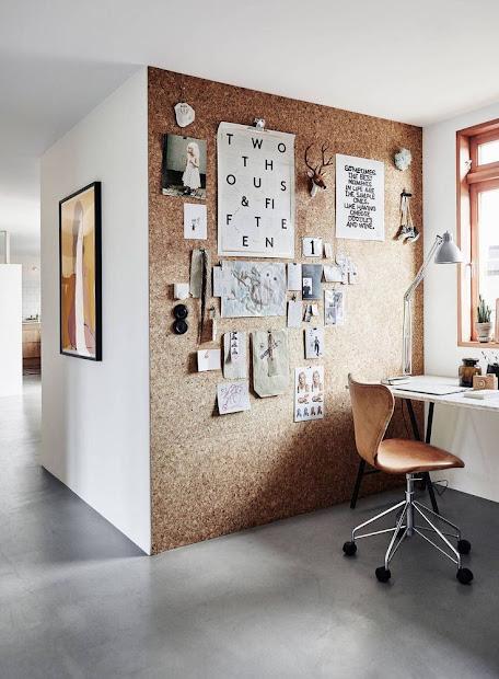 modern cork wall