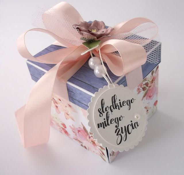 Niebieskie drewno - pudełko ślubne