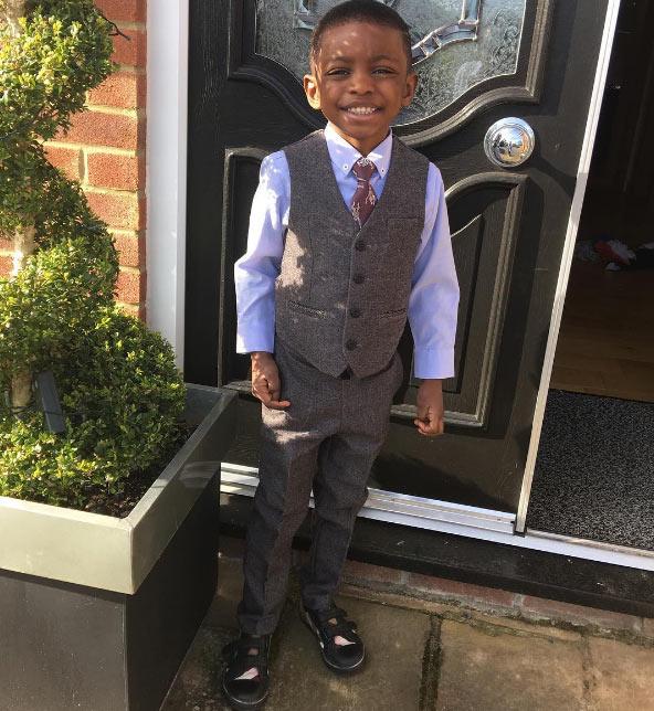 Jude Ighalo's son, Samuel, clocks 5 years old