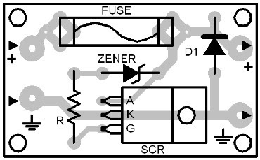 Parts Placement Layout Overvoltage Crowbar #2