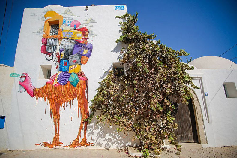 Djerbahood: el arte callejero de Erriadh