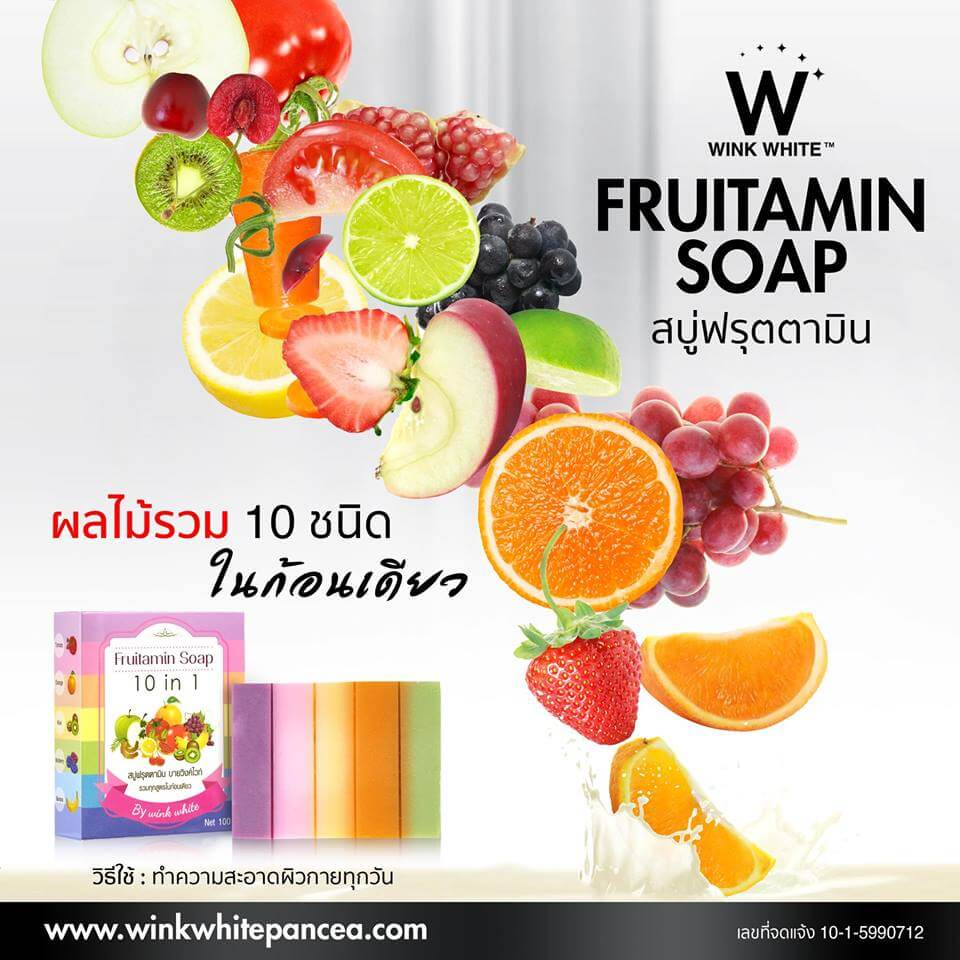 Fruitamin Soap Wink White Pancea