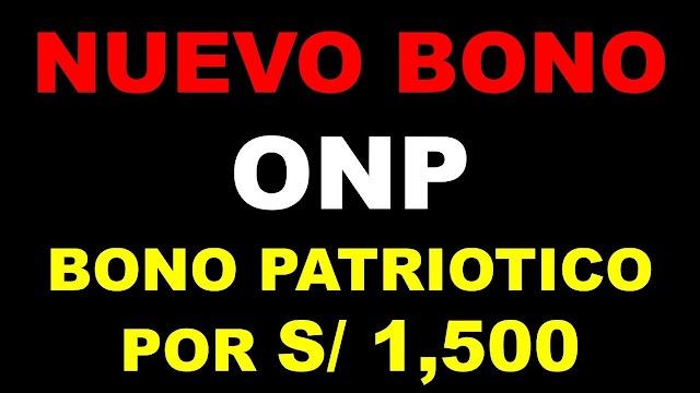 Bono Patriótico ONP
