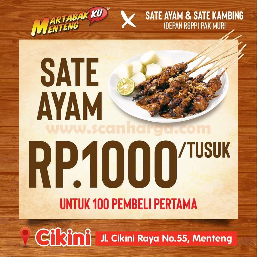 Promo Martabakku Menteng Cikini - Sate Ayam Cuma Rp 1.000 /Tusuk