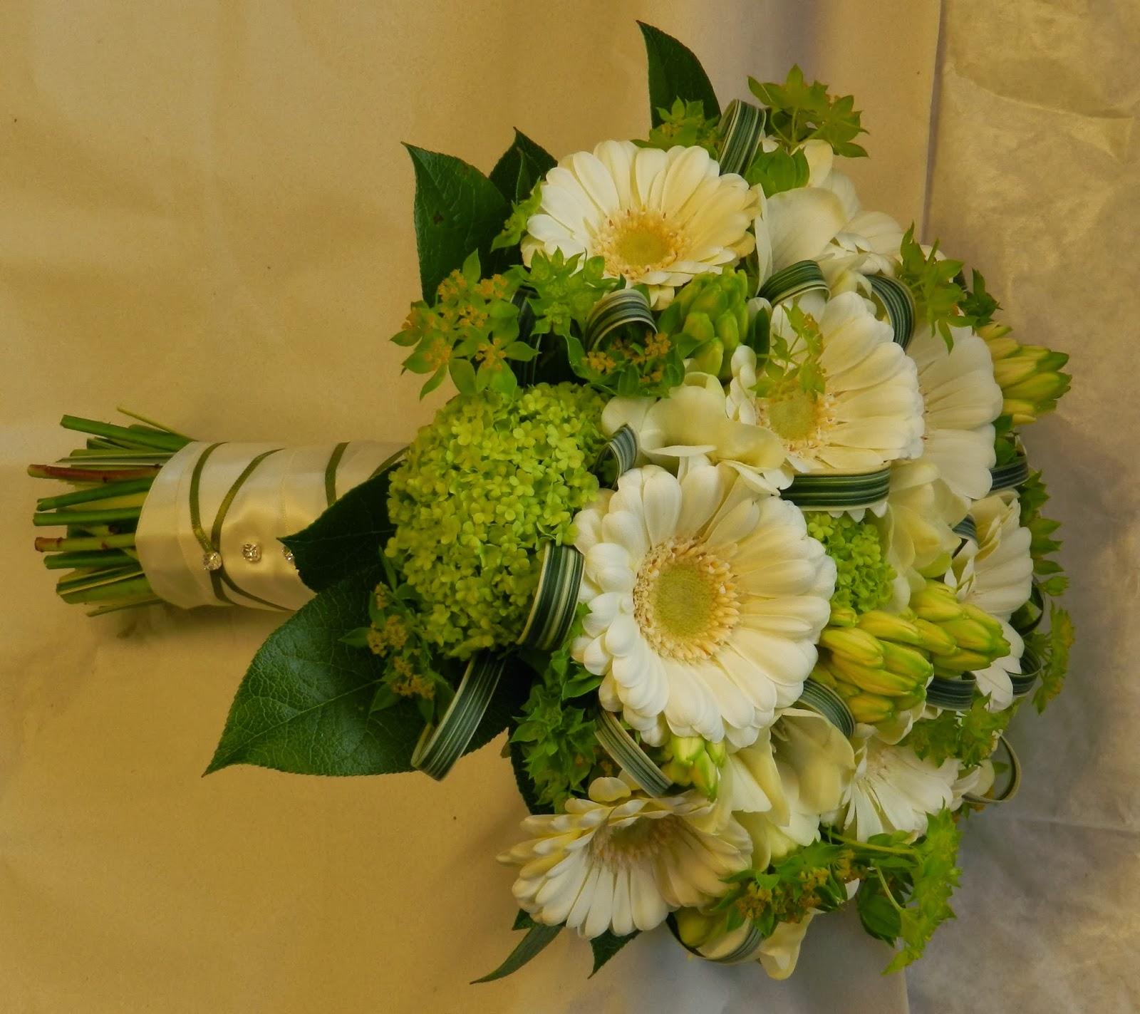 Sandra's Flower Studio: Ivory and green wedding flowers