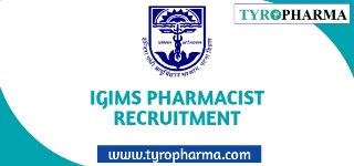 IGIMS Patna New Registration Pharmacist job Recruitment