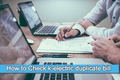 k electric duplicate bill - How to Check k-electric duplicate bill onilne