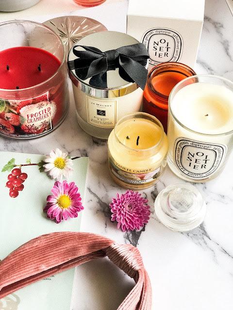 любимые свечи diptique jo malone bbw