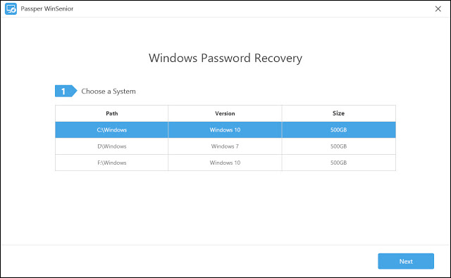 برنامج Passper WinSenior المدهش والجديد لإزالة باسوورد حساب المسؤول في الويندوز بسهولة