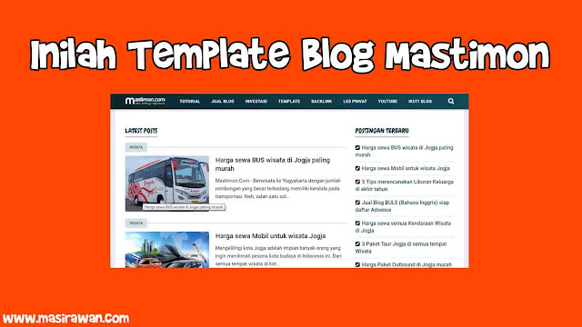 template blog mastimon