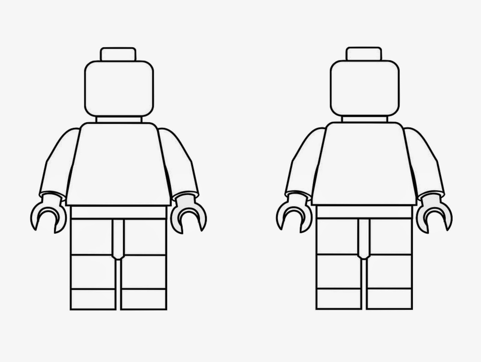 Lego men coloring page