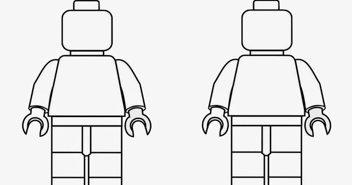Spring Time Treats: Lego men coloring page