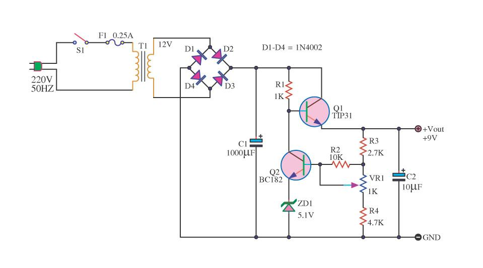 Power Supply Circuit Diagram Using Voltage Regulator together with Power Stage Circuit Description in addition Regulator 5v6v9v12v 1a By Ic 7805780678097812 also Watch together with 9 Volt 2   Power Supply By 78s09. on lm7812 regulator circuit
