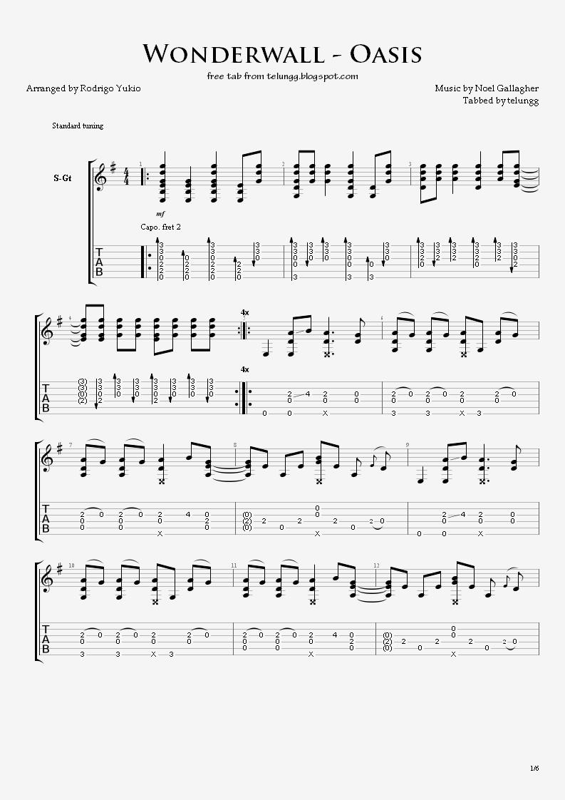 Oasis Wonderwall Electric Guitar Chords : hmmm fingerstyle guitar tabs wonderwall oasis ~ Hamham.info Haus und Dekorationen