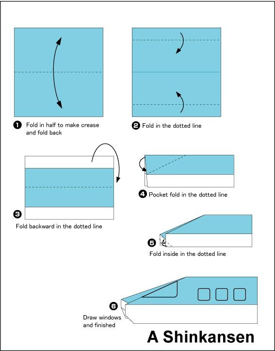 ෂින්කන්සන් එකක් හදමු (Origami Shinkansen) - Your Choice Way